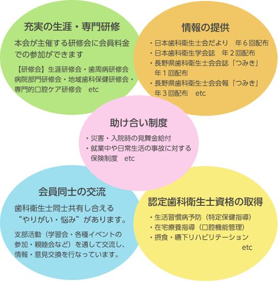 長野県歯科衛生士会の入会特典